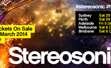 STEREOSONIC CONFIRMS 2014 DATES