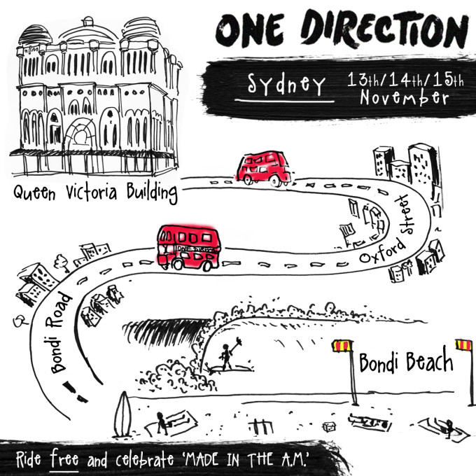 One Direction Bus Sydney